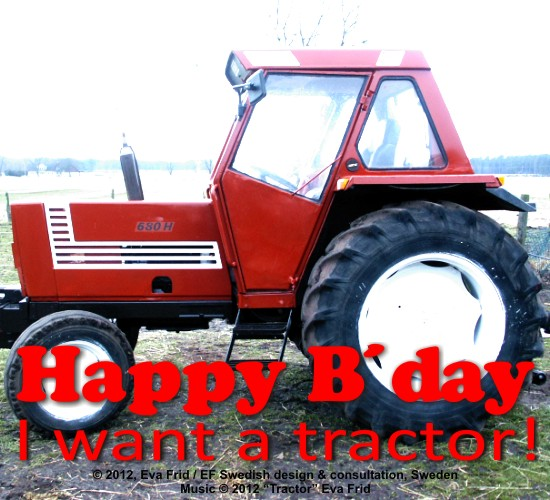 Please, Give Me A Tractor.