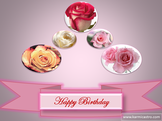 Happy Birthday Roses Card Happy Birthday With Roses