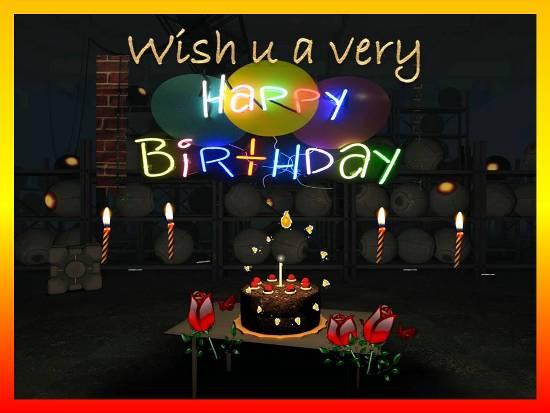 A sparkling Birthday Wish For Dear Ones.