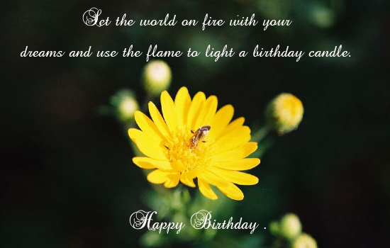 Light A Birthday Candle.
