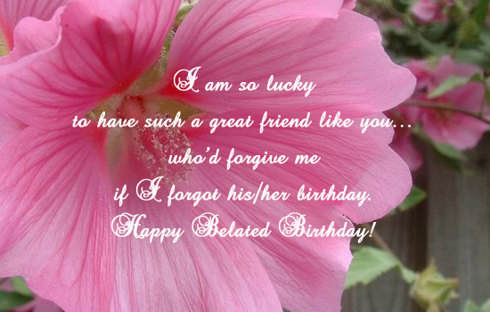 Belated Wishes...