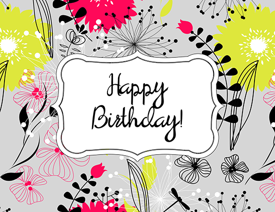Fun And Fancy Florals Free Happy Birthday ECards Greeting Cards