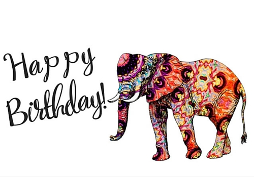 Elephant Birthday Free Happy ECards Greeting Cards