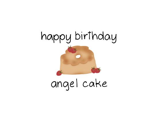Happy Birthday Angel Cake