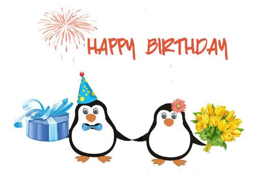Happy Birthday  Cute Penguins.