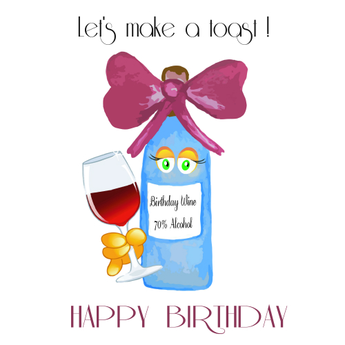 Happy Birthday Wine Toast Free Happy Birthday eCards Greeting – 123 Greetings Birthday Cards