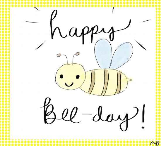 Happy bee day free happy birthday ecards greeting cards 123 customize and send this ecard happy bee day m4hsunfo
