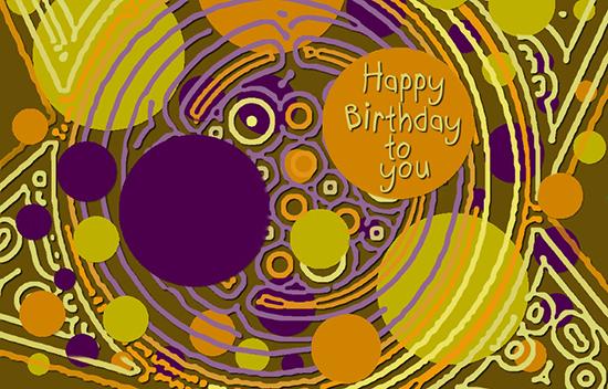 Happy Birthday Bright And Fun Circles.