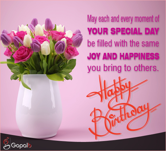 Filled With Joy & Happiness... Free Happy Birthday ECards