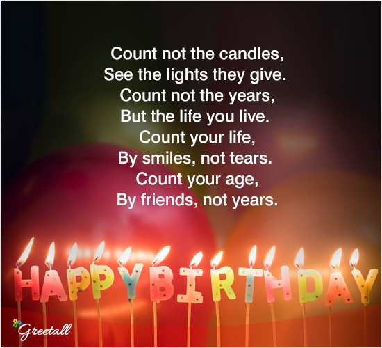 Count Not The Candles... Free Happy Birthday ECards