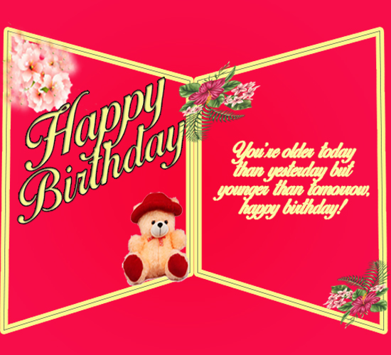 Birthday Wishes Double Greeting Card Free Happy Birthday