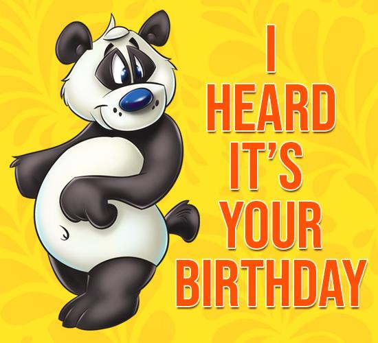 Panda Birthday Wishes. Free Happy Birthday ECards