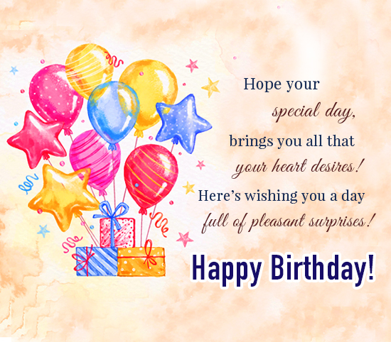 Wishing You A Very Special Birthday! Free Happy Birthday