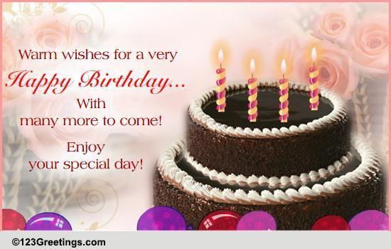 Astonishing A Warm Birthday Wish Free Happy Birthday Ecards Funny Birthday Cards Online Hetedamsfinfo
