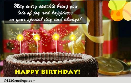 A Sparkling Birthday Greeting Free Happy Birthday Ecards