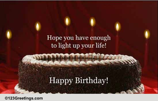 A Birthday Wish To Light Up The Day Free Happy Birthday