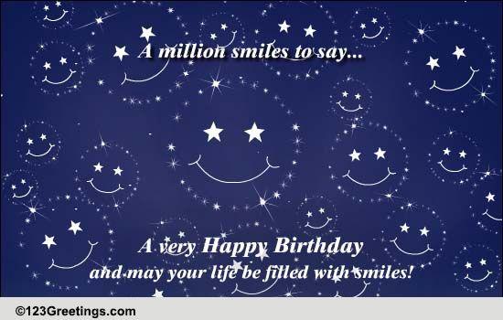 A Million Smiles    Free Happy Birthday eCards, Greeting