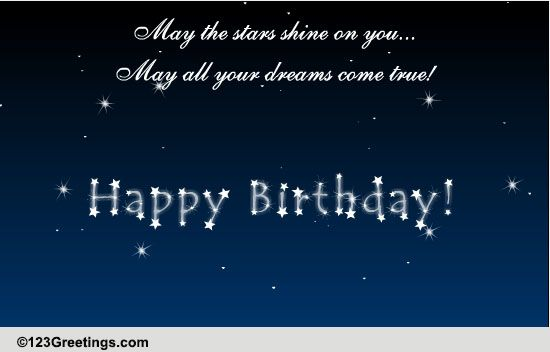 May The Stars Shine On You Free Happy Birthday Ecards