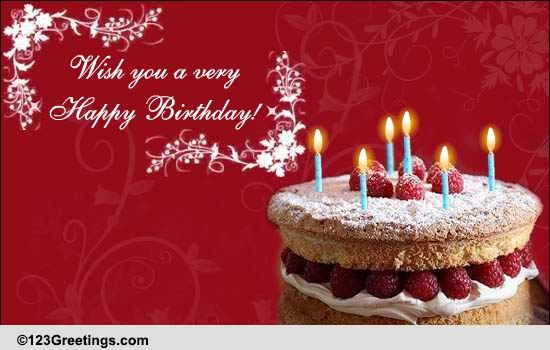 Wish You A Whole Lot Of Happiness Free Happy Birthday eCards – Greetings of Happy Birthday
