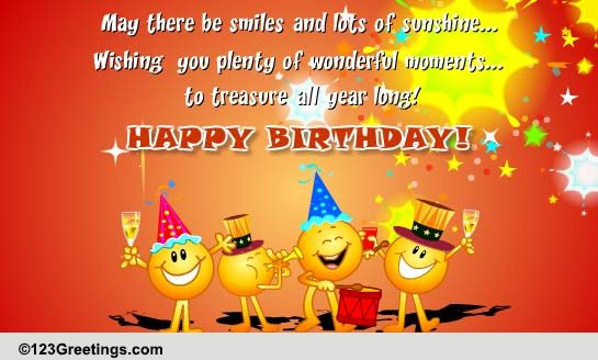 Its Time To Celebrate Free Happy Birthday eCards Greeting Cards – Greetings of Happy Birthday