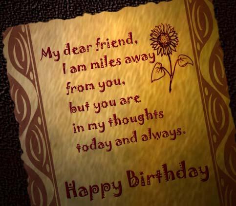 Happy Birthday Miles Away Quotes. QuotesGram