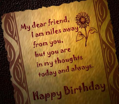 Happy Birthday Miles Away Free Happy Birthday Ecards