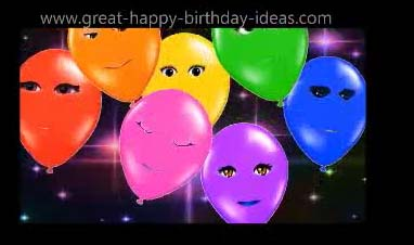 Singing Happy Birthday Balloons Free ECards