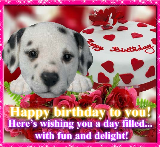 Cute Puppy For Your Birthday. Free Happy Birthday ECards