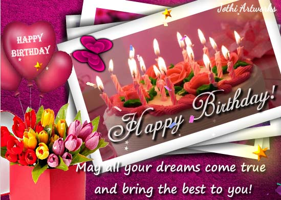 The Most Beautiful Birthday Free Happy ECards Greeting Cards