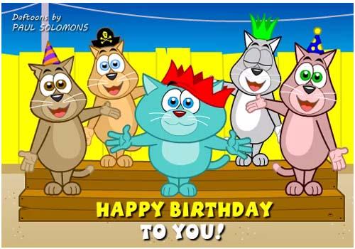 Cat Chorus Birthday Song