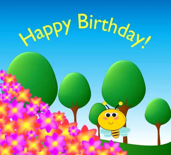 Happy Birthday Bee Buzz... Free Happy Birthday ECards