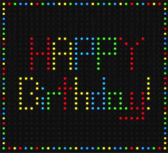 Lite Brite Birthday Free Happy Birthday Ecards Greeting