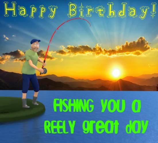 Happy Birthday Fisherman. Free Happy Birthday ECards