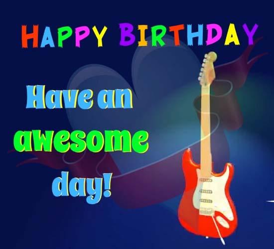 Happy Birthday Spinning Guitar Free Ecards Greetings Jpg 550x500 Animated Balloon