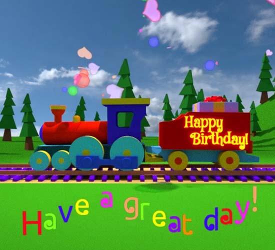 Happy Birthday Train. Free Happy Birthday ECards, Greeting