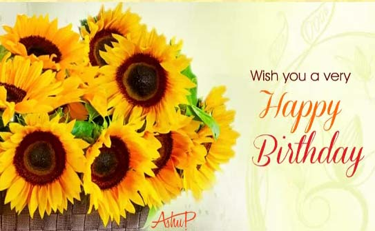 Sunny Birthday Flowers Amp Wishes Free Happy Birthday