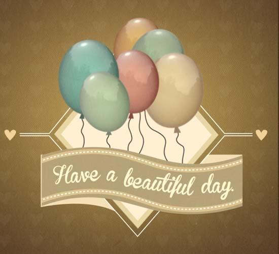 Golden Birthday Balloons! Free Happy Birthday ECards