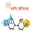 Happy Birthday  Cute Penguins.