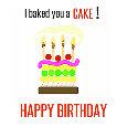 Happy Birthday Baked Cake.