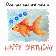 Happy Birthday Goldfish Ecard.