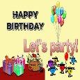 Happy Birthday Let's Party!