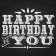 Happy Birthday To You! (Chalkboard).