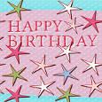 Happy Birthday Colorful Stars.