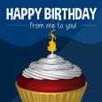 Tasty Birthday Cupcake.