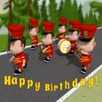 Happy Birthday Marching Band.