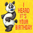 Panda Birthday Wishes.