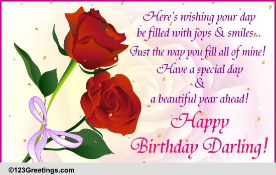 Stupendous Happy Birthday Darling Free Husband Amp Wife Ecards Greeting Cards Valentine Love Quotes Grandhistoriesus