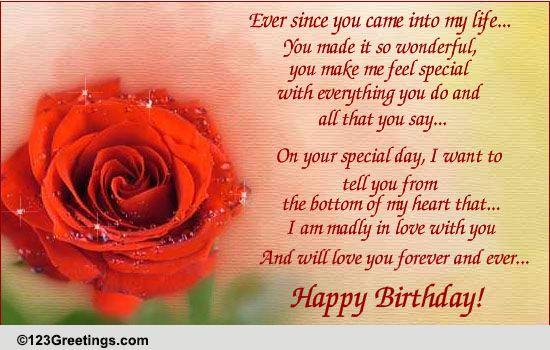 Birthday Love Free Husband Wife eCards Greeting Cards – 123 Greetings Birthday Ecards for Lover