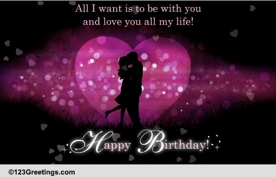 romantic birthday free husband  wife ecards, greeting cards, Birthday card