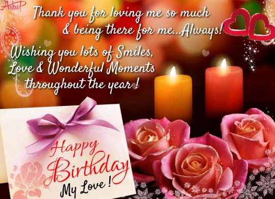 Romantic Birthday Wishes For My Love Free Husband Wife ECards